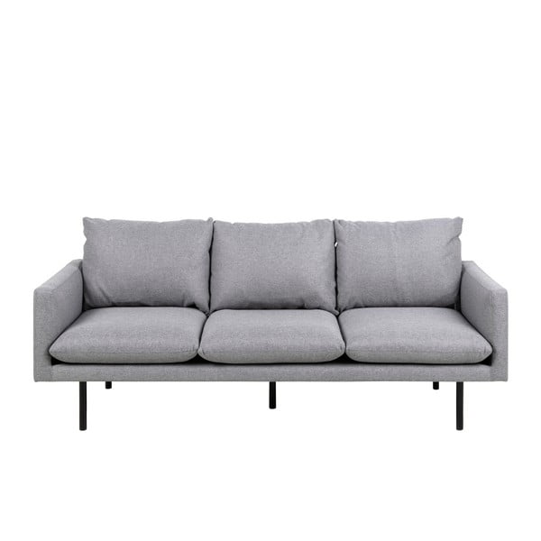 Jasnoszara 3-osobowa sofa Actona Carolina
