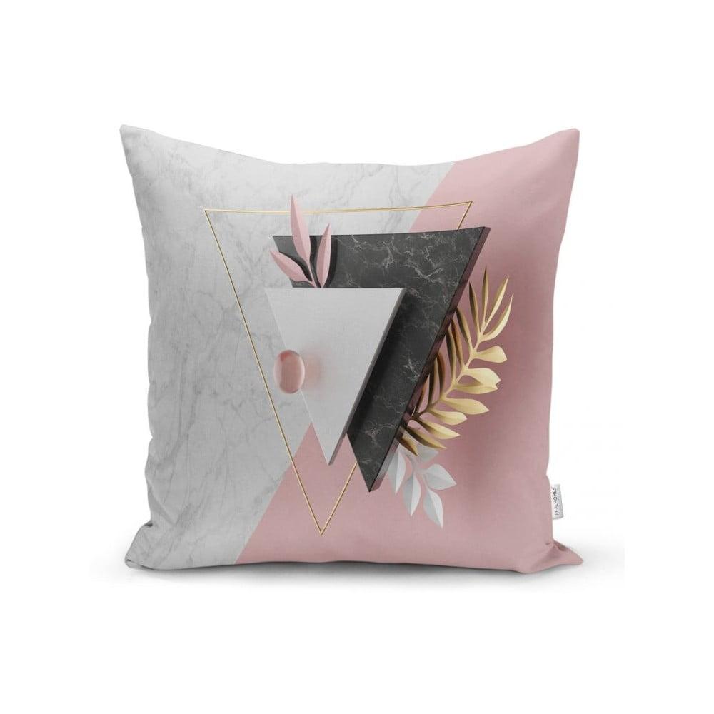 Povlak na polštář Minimalist Cushion Covers BW Marble Triangles, 45 x 45 cm