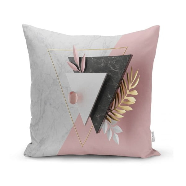 Față de pernă Minimalist Cushion Covers BW Marble Triangles, 45 x 45 cm