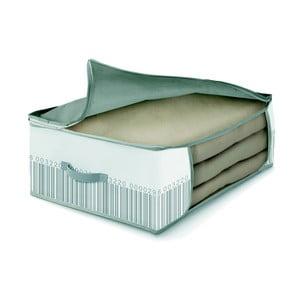Zeleno-bílý úložný box na peřiny Cosatto Bright, 45 x 45 cm