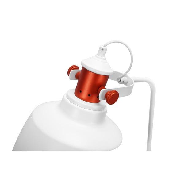 Bílá volně stojící lampa Garageeight Etel