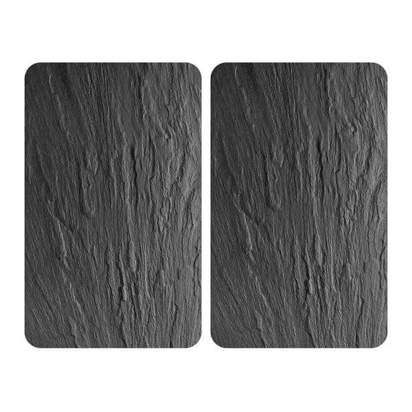 Sada 2 skleněných krytů na sporák Wenko XL State, 52x40cm