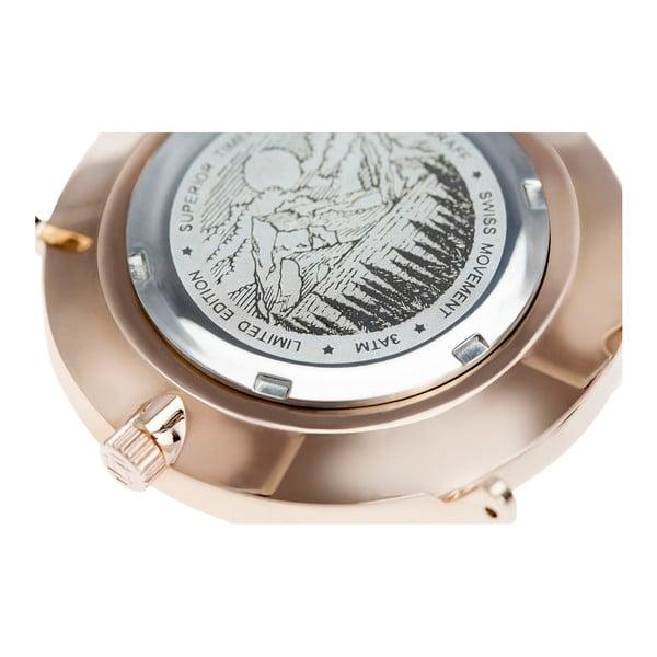 Unisex hodinky s páskem z nerezové oceli v růžovozlaté barvě Frederic Graff Rose Mesh