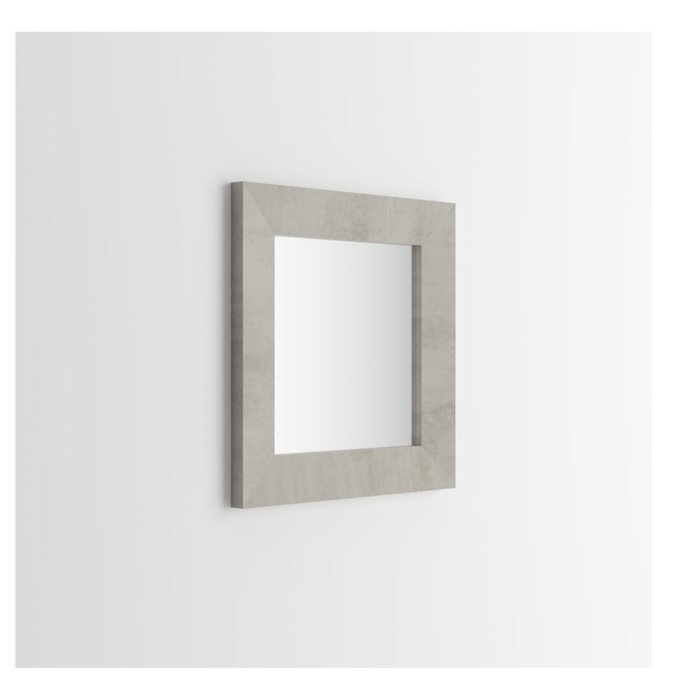 Zrcadlo v dekoru betonu MobiliFiver Giuditta, 65x65cm