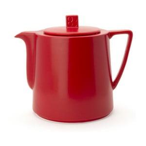Červená keramická konvice se sítkem na sypaný čaj Bredemeijer Lund, 1,5 l