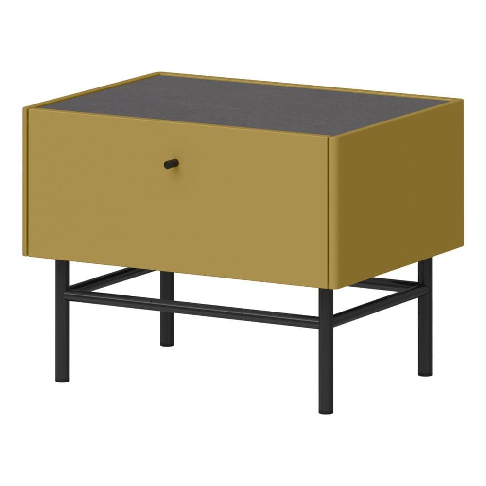 Zelenožlutý noční stolek Germania Monteo