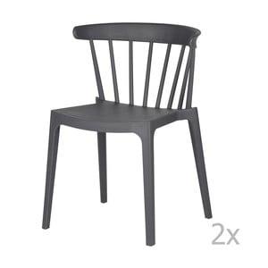 Sada 2 šedých židlí WOOOD Bliss