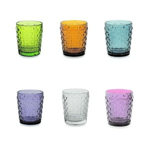 Sada 6 barevných sklenic Villa d'Este Quadri