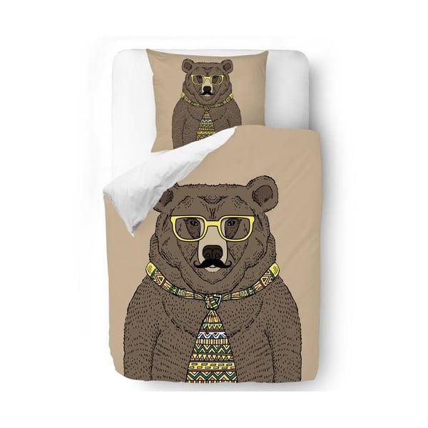 Povlečení Hipster Bear 140x200 cm