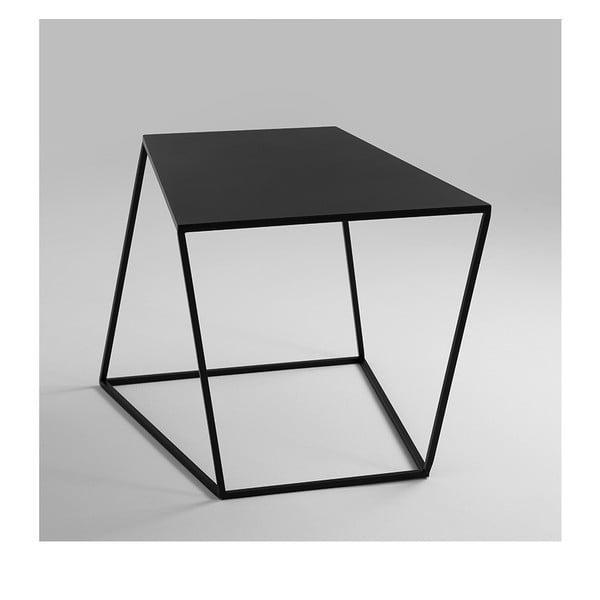 Černý odkládací stolek Custom Form Zak, 50x50cm