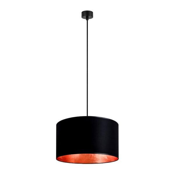 Černé stropní svítidlo s vnitřkem v měděné barvě Sotto Luce Mika, ⌀40cm