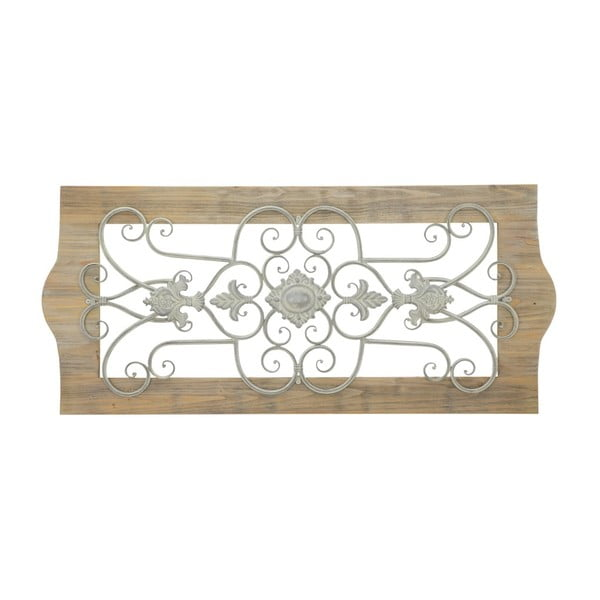 Dekoracja ścienna z drewna i metalu Mauro Ferretti Provenza, 48x107,5 cm