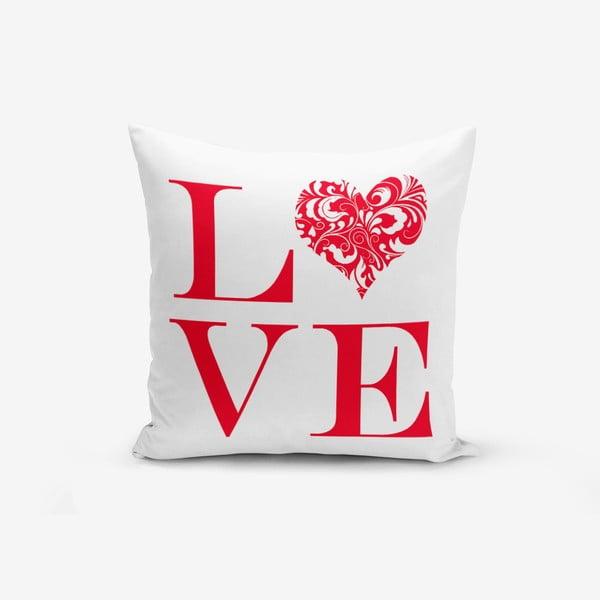 Poszewka na poduszkę z domieszką bawełny Minimalist Cushion Covers Love Red, 45x45 cm