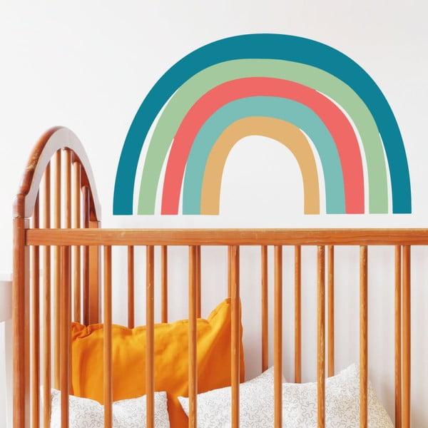 Nástenné detské samolepky Ambiance Scandinavian Rainbow