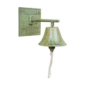 Zelený litinový nástěnný zvonek EsschertDesign