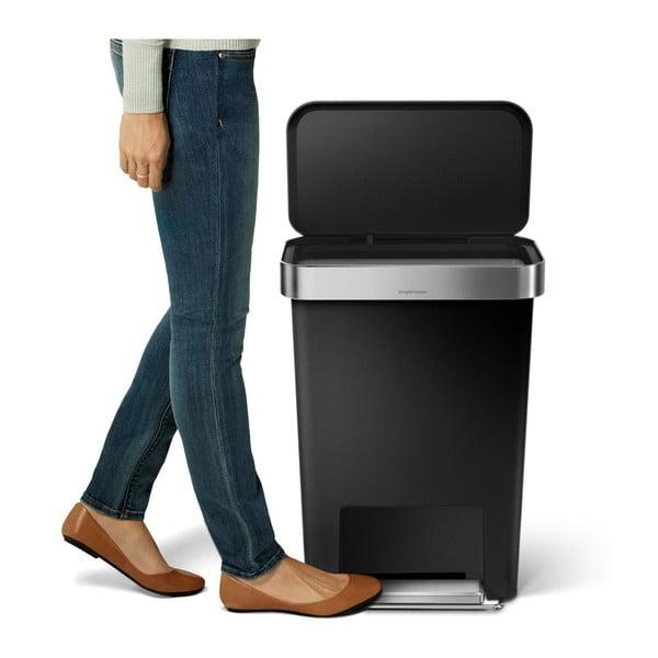 Pedálový koš na odpadky Pocket, 45 l černý