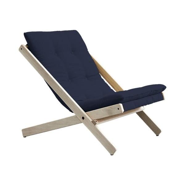 Boogie Raw/Navy sötétkék összecsukható bükkfa fotel - Karup Design