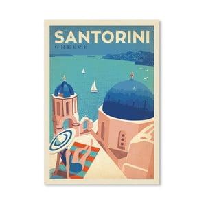 Plakát Americanflat Santorini, 42 x 30 cm