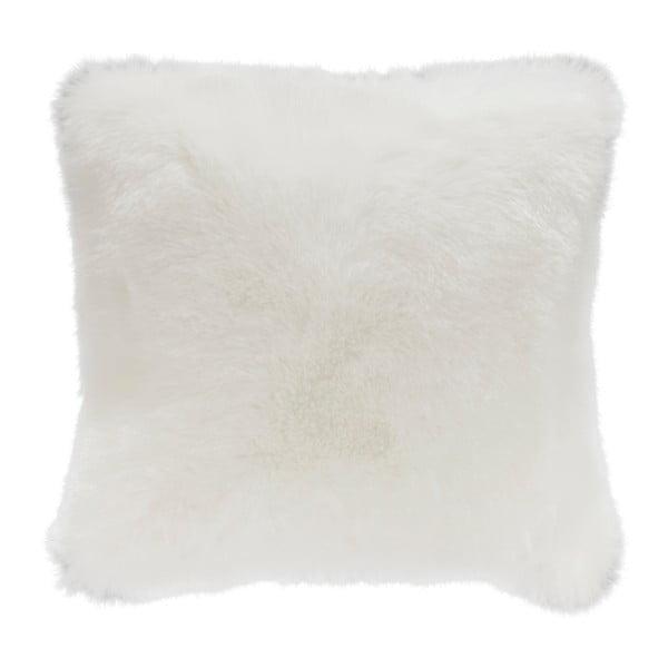 Bílý polštář z umělé kožešiny Mint Rugs, 43 x 43 cm