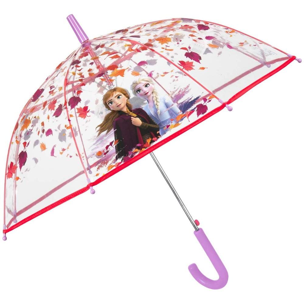 Transparentní dětský deštník odolný vůči větru Ambiance Frozen, ⌀74cm