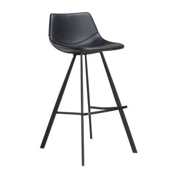 Scaun de bar cu picioare metalice negre DAN–FORM Pitch, negru