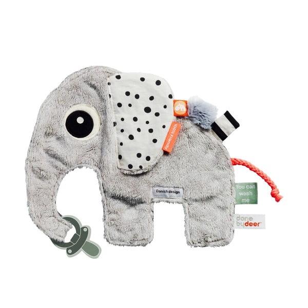 Jucărie cu șnur pentru suzetă Done by Deer Elphee, gri