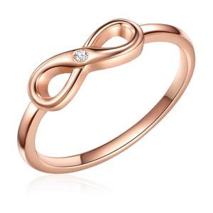 Stříbrný prsten v barvě růžového zlata s pravým diamantem Tess Diamonds Olivia, vel.58