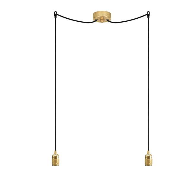 Dvojitý závěsný kabel Uno, zlatá/černá/zlatá