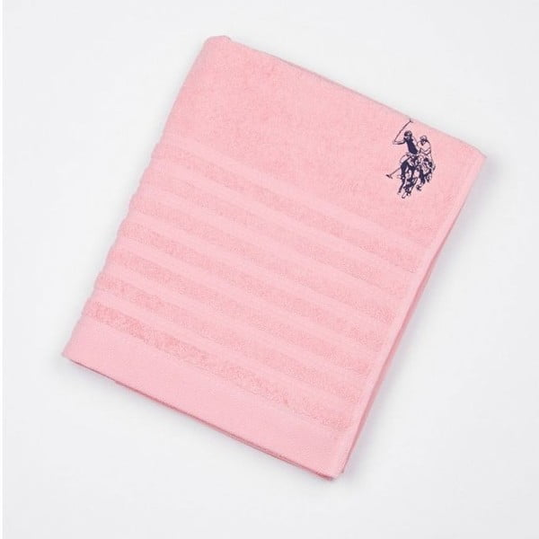 Osuška US Polo Bath Towel Pink, 90x150 cm