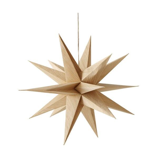 Brązowa wisząca dekoracja świąteczna w kształcie gwiazdy Boltze Kassia, dł. 40 cm