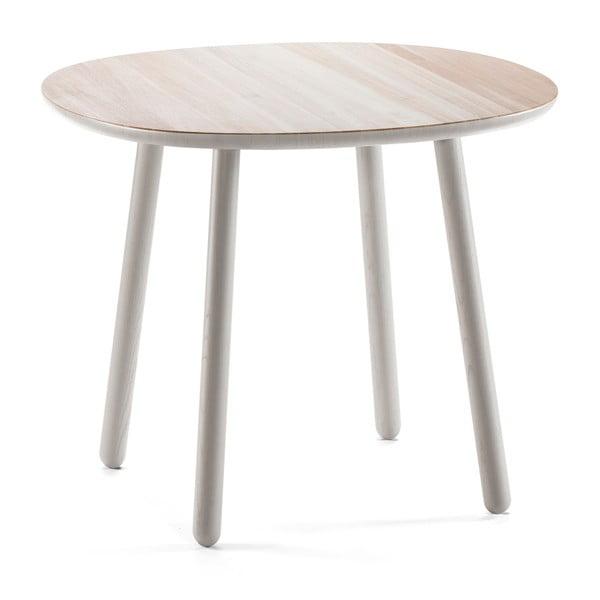 Šedý jídelní stůl z masivu EMKO Naïve, 90 cm