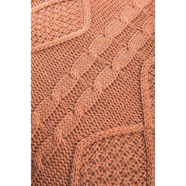 Pletený polštář Kosem 43x43 cm, hnědý