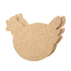 Set 2 suporturi veselă, din plută T&G Woodware Cork Chicken