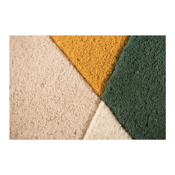 Zelený vlněný koberec Flair Rugs Prism, 160x220cm