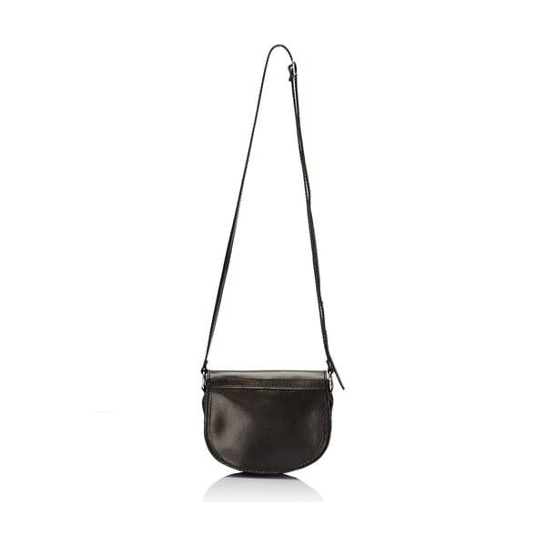 Černá kožená kabelka Giulia Massari Gitte