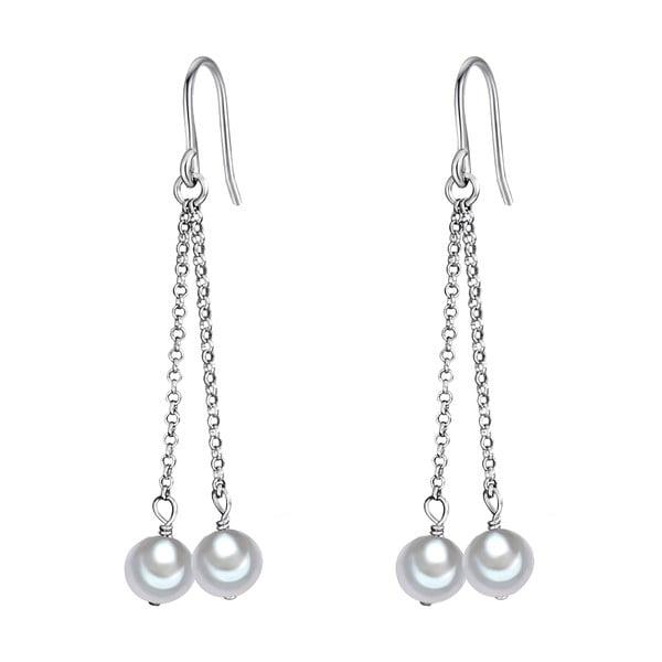 Perlové náušnice Lenda, bílé perly