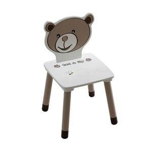 Dětská bílá židle 13Casa Teddy