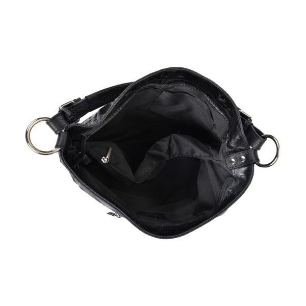 Černá kožená kabelka IsabellaRhea Larto