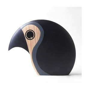 Dekorace ve tvaru ptáčka s šedým detailem Architectmade Discus