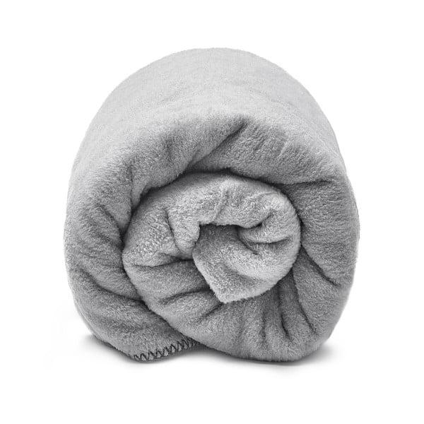 Šedá bavlnená deka hundre, 100×150 cm