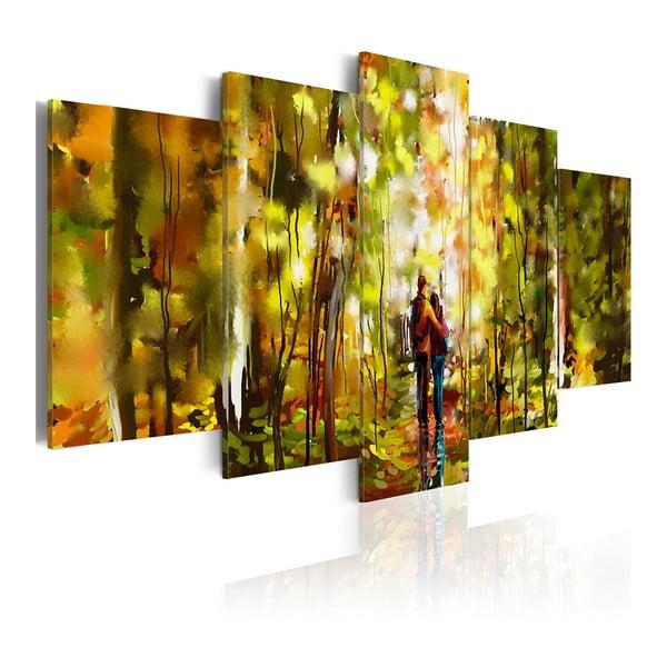 Vícedílný obraz na plátně Artgeist Romantic Walk, 100 x 50 cm