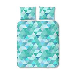 Modré bavlněné povlečení na jednolůžko Muller Textiels Tria,140x200cm