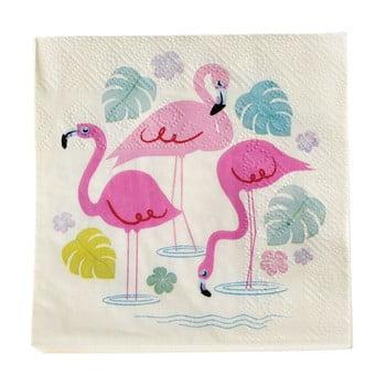 Set 20 șervețele din hârtie Rex London Flamingo Bay de la Rex London
