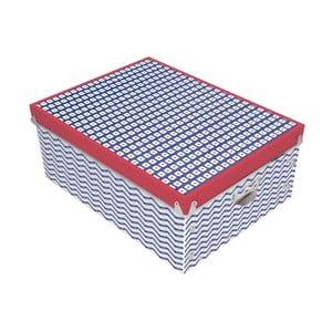 Cutie de depozitare Incidence Nautic Mix, 34,5 x 26 cm, albastru - roșu