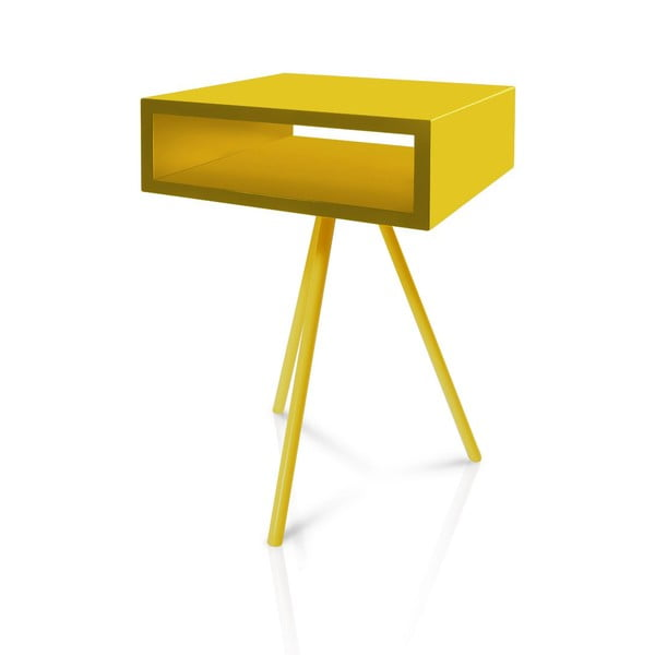 Odkládací stolek Vintme AL2, žlutý