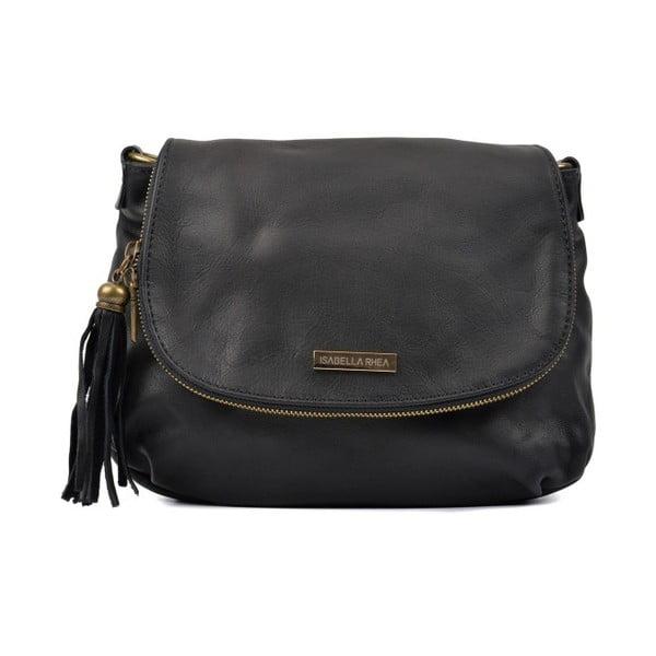 Čierna kožená kabelka Isabella Rhea Dunia