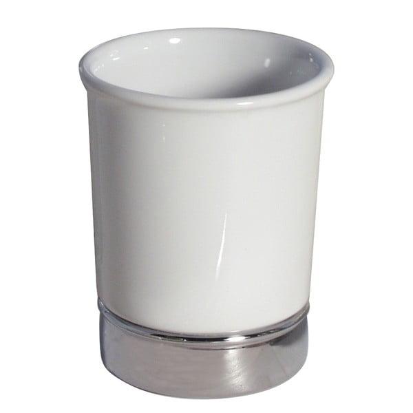 Biely pohárik na zubné kefky iDesign York