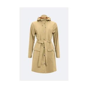Béžový dámský plášť s vysokou voděodolností Rains Curve Jacket, velikost L/XL