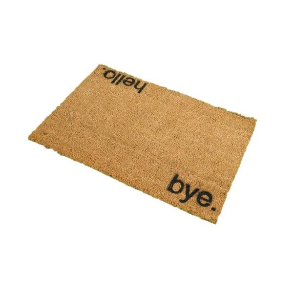 Rohožka z přírodního kokosového vlákna Artsy Doormats Hello,Bye, 40x60cm