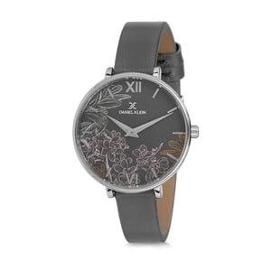 Dámské hodinky s šedým koženým řemínkem Daniel Klein Rockstar